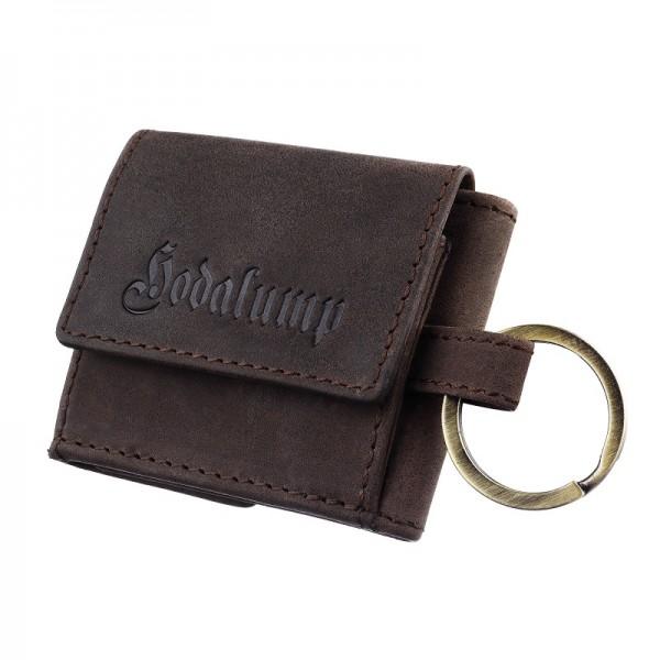 Leder Schlüsselanhänger mit Münz und Geldschein Fach